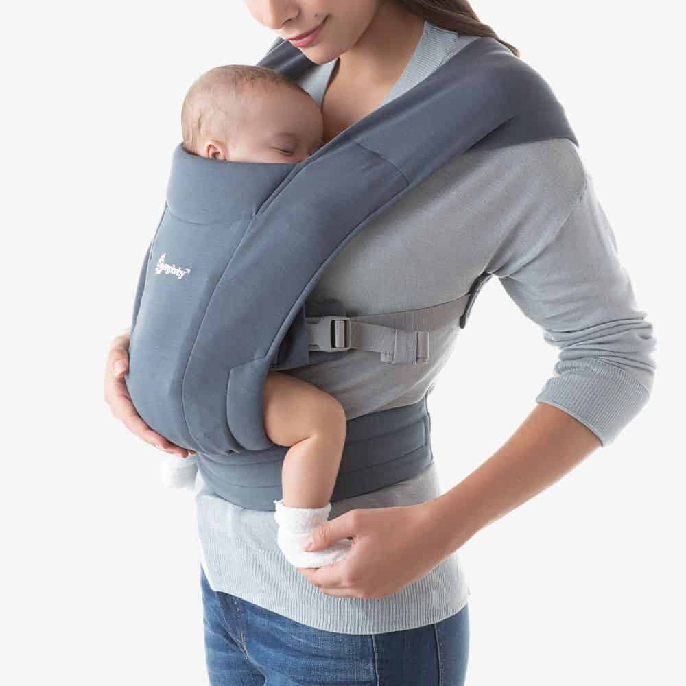 Ergobaby Embrace Baby carrier for Newborn Burgundy Oxford Blue