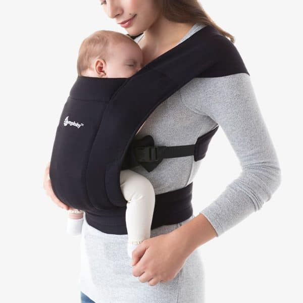 Ergobaby Embrace Newborn Baby Carrier Pure Black